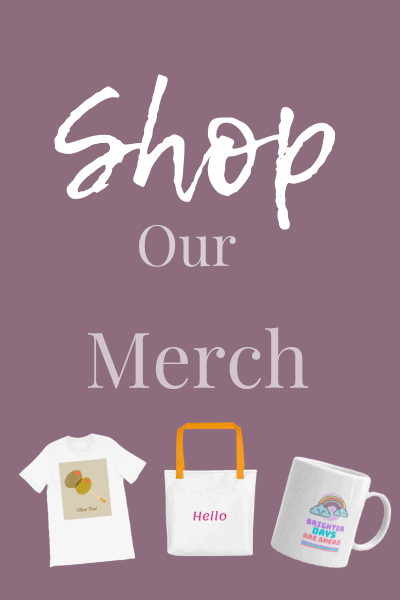 Shop Our Merch with Product Shots on Purple Background