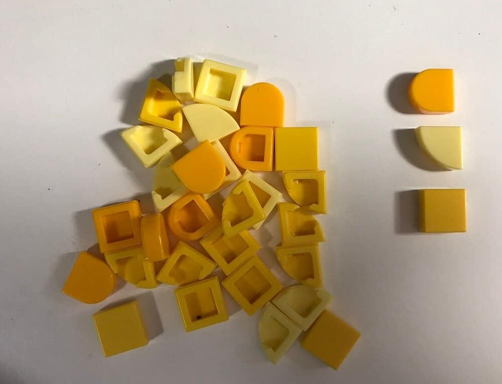 Yellow Lego Pieces for Lego Dots Bracelet Set