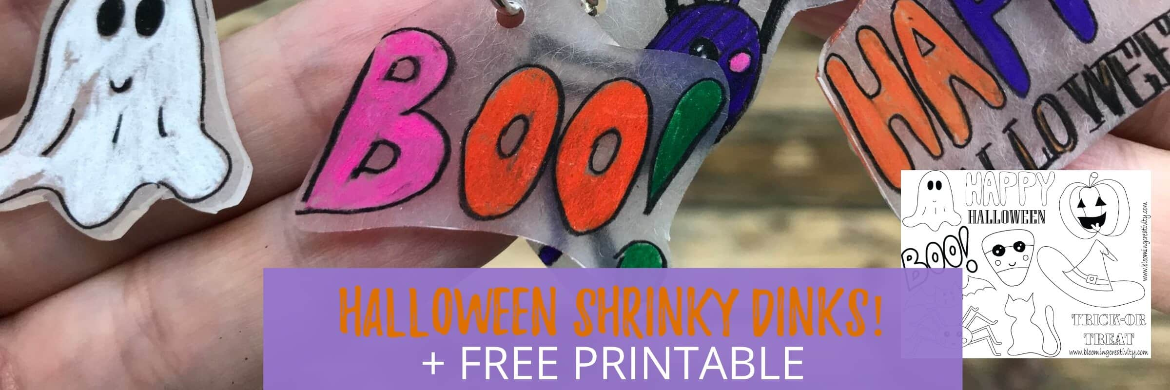 Halloween Shrinky Dinks Project and Free Printable