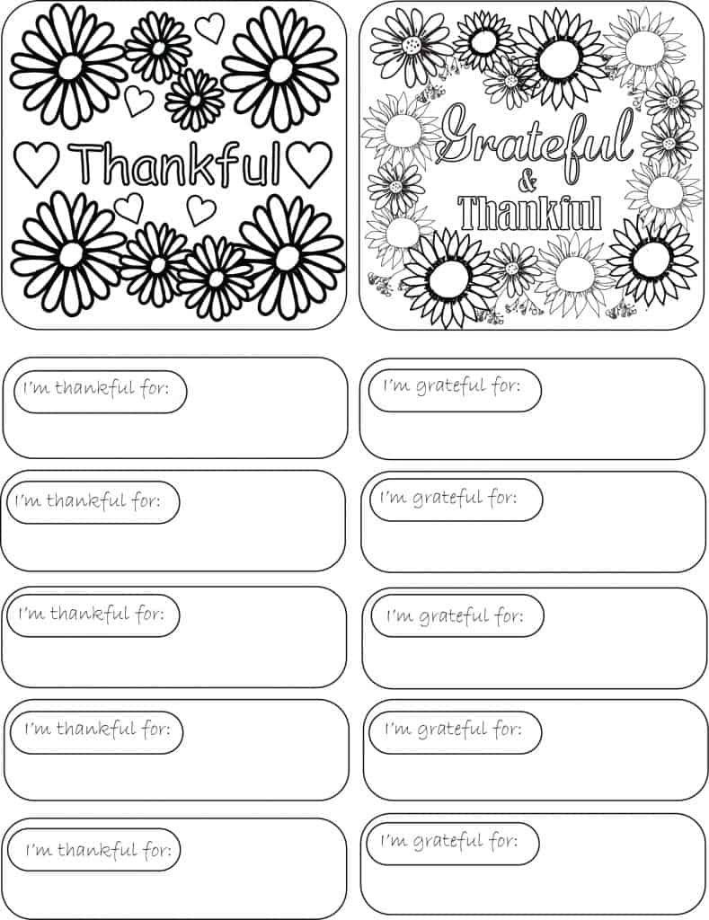 Gratitude Jar Label and Paper Slips Printable